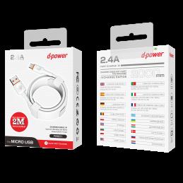Câble Micro ubs 2m - Blanc