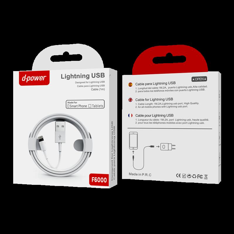 Câble lightning iphone 1m - Blanc