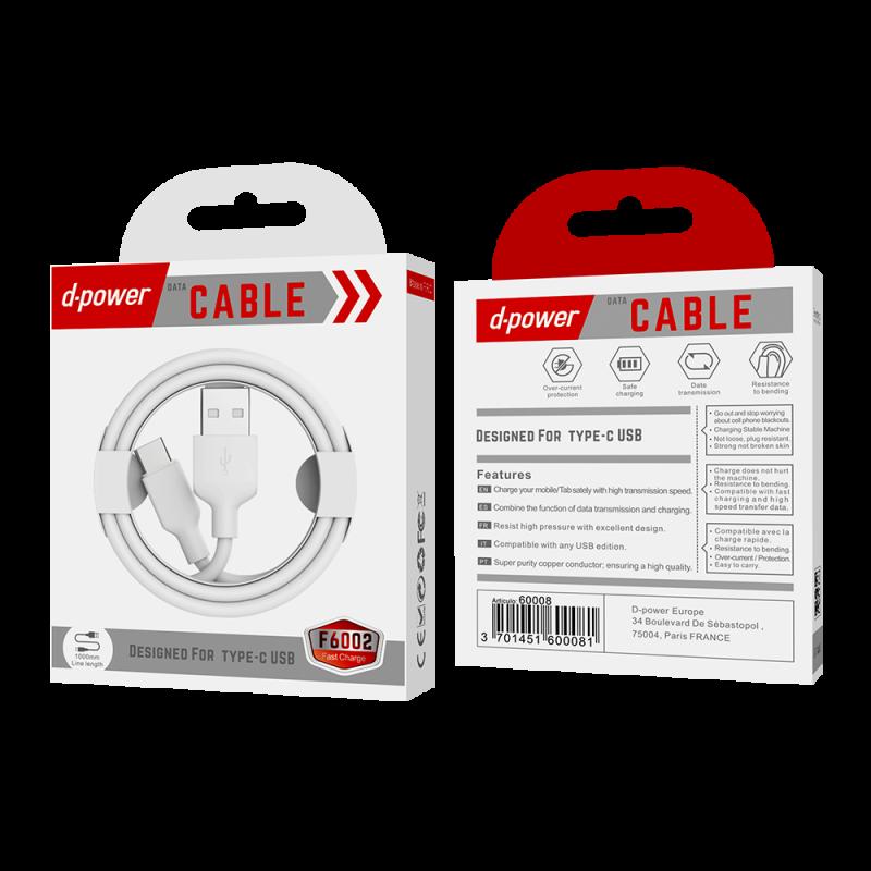 Câble Type C 1m - Blanc