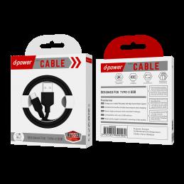 Câble Type C 1m - Noir