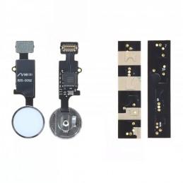 Nappe / Bouton HOME (Bluetooth) iPhone 7 / 7 Plus / 8 / 8 Plus Blanc