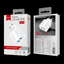 Prise secteur 2 ports USB - Blanc