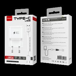 Prise secteur + câble TypeC - Blanc
