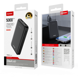 Power Bank 5000 MAH - Noir
