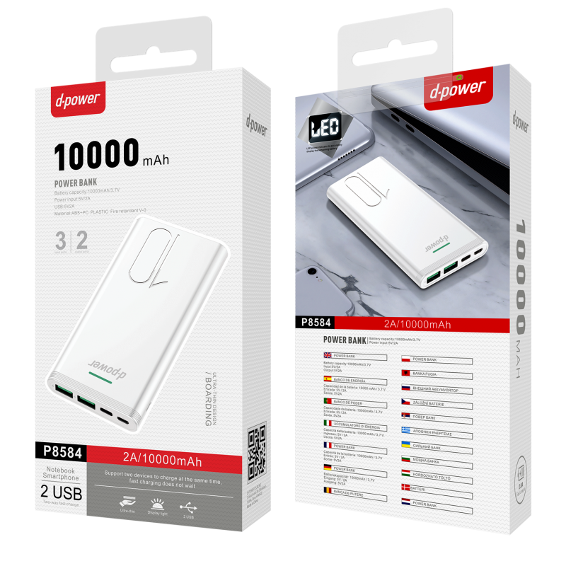 Power Bank 10000 MAH - Blanc